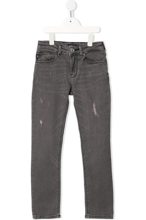Emporio Armani Gerade Distressed-Jeans