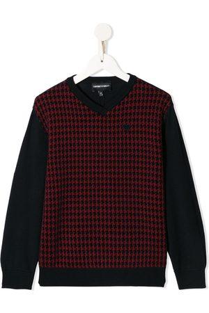 Emporio Armani Jungen Strickpullover - Pullover mit V-Ausschnitt