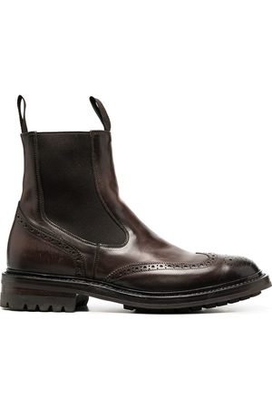 Officine creative Chelsea-Boots mit Budapestermuster