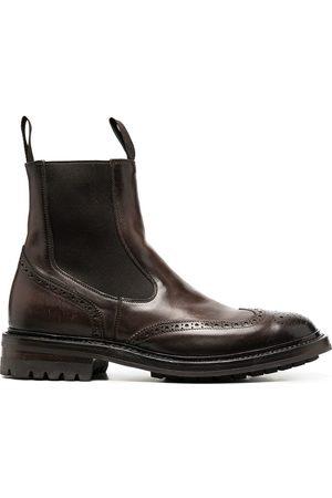 Officine creative Herren Chelsea Boots - Chelsea-Boots mit Budapestermuster