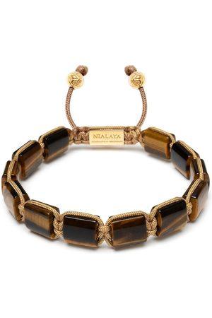Nialaya Jewelry Herren Armbänder - Armband mit Tigerauge-Perlen
