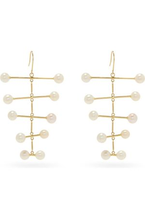 Mateo Pearl Blizzard 14kt Mobile Earrings
