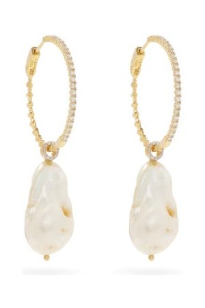 Mateo Damen Ohrringe - Diamond, Pearl & 14kt Gold Earrings