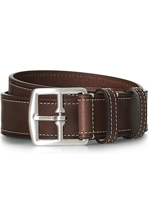 Anderson's Herren Gürtel - Bridle Stiched 3,5 cm Leather Belt Brown