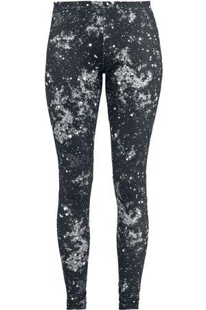 Full Volume Damen Leggings & Treggings - Schwarze Leggings mit Galaxy-Print Leggings
