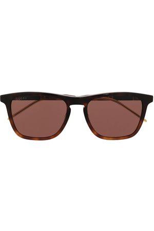 Gucci Herren Sonnenbrillen - Eckige Sonnenbrille in Schildpattoptik