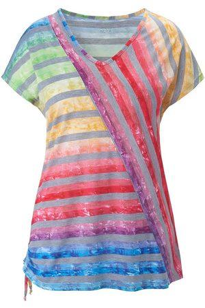 Anna Aura V-Shirt 1/2-Arm mehrfarbig