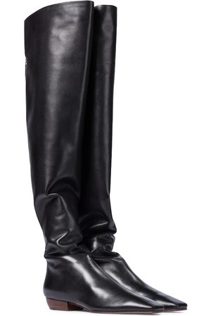 The Row Overknee-Stiefel Slouch aus Leder