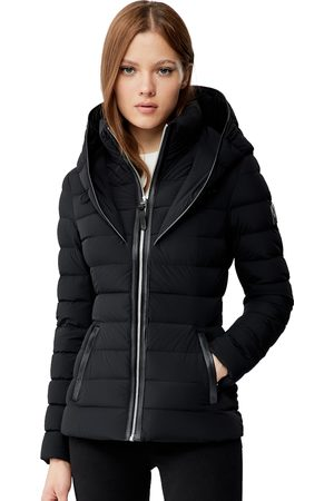 Mackage Andrea Lightweight Down Jacket with Signature Collar in Black