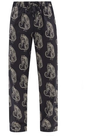 Desmond & Dempsey Sansindo Tiger-print Cotton-poplin Pyjama Trousers