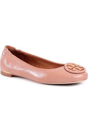 Tory Burch Multi Logo Elastic Ballet 82218 Pink Moon 689