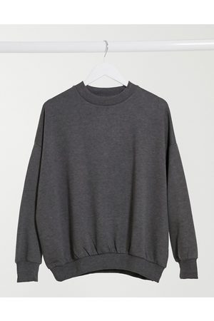 ASOS – Weiches, in Anthrazit meliertes Cocoon-Sweatshirt