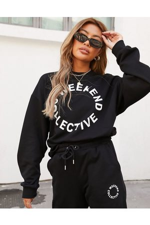 ASOS ASOS – Weekend Collective – Oversize-Sweatshirt in mit Logo, Kombiteil