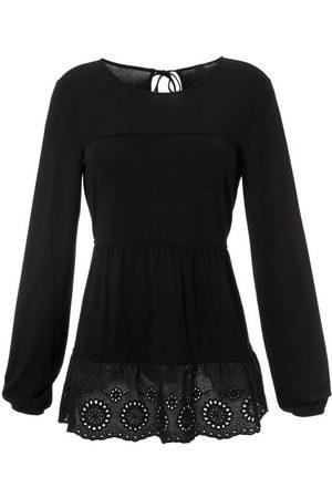 Aniston Shirtbluse mit hochwertiger Spitze am Saum - NEUE