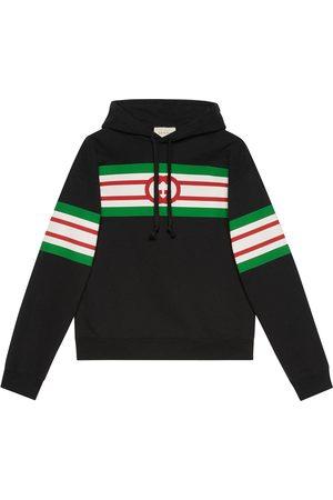 Gucci Kapuzenpullover mit Logo-Streifen