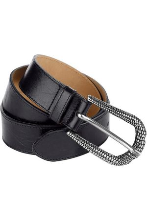 MONA Ledergürtel mit geprägter Schließe