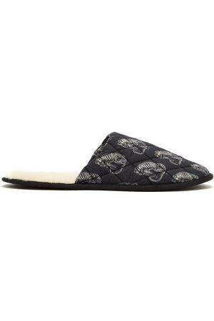 Desmond & Dempsey Sansindo Tiger-print Cotton Slippers