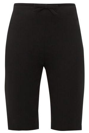 Miu Miu Bow-embellished Cady Cyclin Shorts