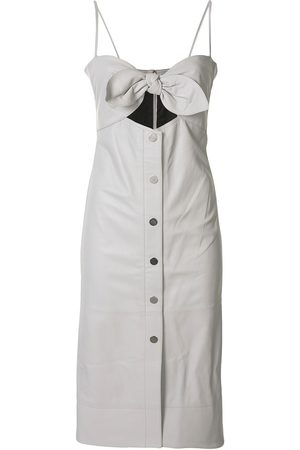 PROENZA SCHOULER WHITE LABEL Knotted top leather dress