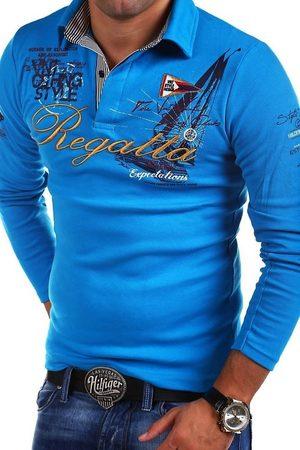 behype Poloshirt »REGATTA« mit langen Ärmeln