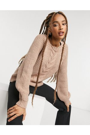 Only – Strickpullover mit Zopfmuster in