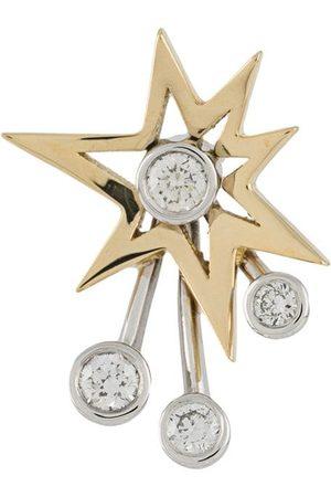 LE STER Damen Ohrringe - 18kt 'Rocket' Gelb- und Weißgoldohrring mit Diamanten