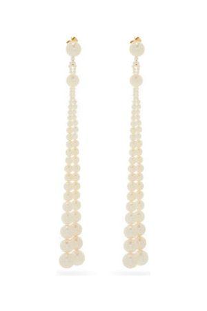 Sophie Bille Brahe Peggy Opera Pearl & 14kt Drop Earrings