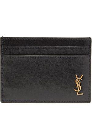 Saint Laurent Ysl-plaque Leather Cardholder