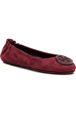 Tory Burch Minnie Travel Ballet With Pave 79197 Burgundy 927