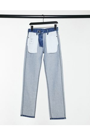 Calvin Klein Damen Straight - EST 1978 - Straight Jeans im Inside-Out-Design in