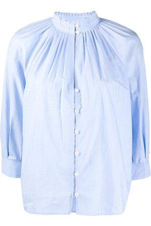 Frame Bluse mit gerafftem Ausschnitt
