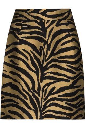 Khaite Damen Miniröcke - Eiko' Minirock mit Zebra-Print