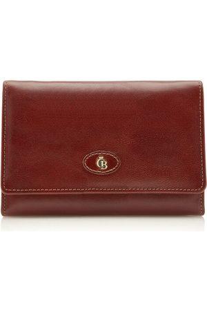 Castelijn & Beerens Geldbörse mit Überschlagverschluss 6 Karten RFID, Cognac