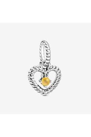 PANDORA Uhren - Honigfarbenes Metallperlen-Herz Charm-Anhänger