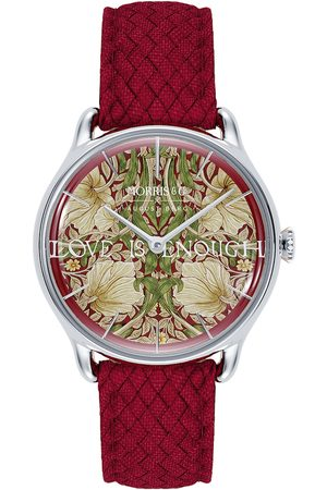 August Berg Uhr 'MORRIS & CO Silver Red Perlon 30mm