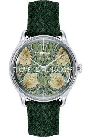 August Berg Uhr 'MORRIS & CO Silver Green Perlon 30mm