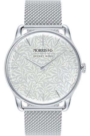 August Berg Uhr 'MORRIS & CO Silver Willow Boughs Mesh 38mm
