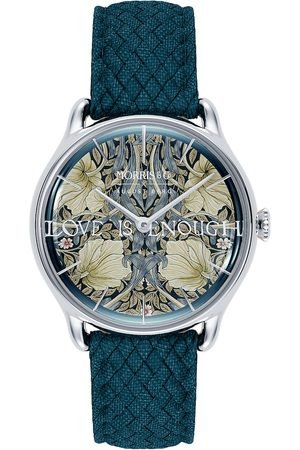 August Berg Uhr 'MORRIS & CO Silver Indigo Perlon 30mm