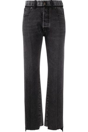 Maison Margiela Damen Straight - Jeans mit Kontrasteinsatz