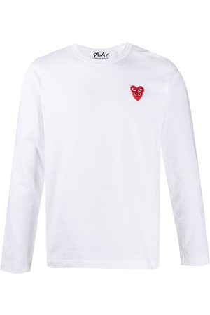 Comme des Garçons Herren Longsleeves - Langarmshirt mit aufgestickten Herzen