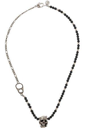 Alexander McQueen Herren Halsketten - Perlenkette mit Totenkopf