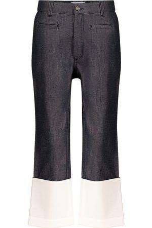 Loewe High-Rise Jeans mit Leder