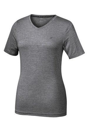 """JOY SPORTSWEAR T-Shirt """"ZAMIRA"""", atmungsaktiv, taillierter Schnitt, V-Ausschnitt, dunkelgrau, 38"""