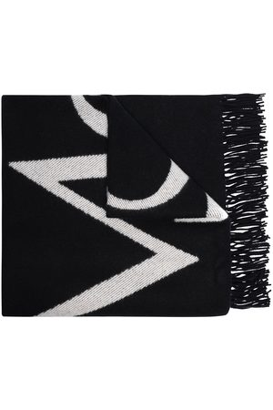 More Joy Damen Schals - Jacquard-Schal mit Logo