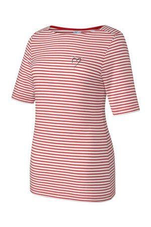 """JOY SPORTSWEAR T-Shirt """"LIA"""", Streifenmuster, Herzaufdruck, für Damen, /weiß, 40"""