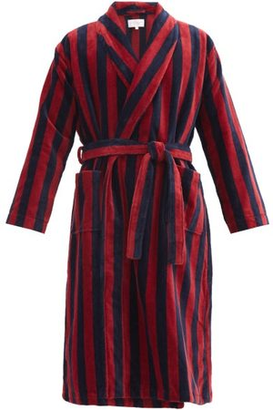 DEREK ROSE Herren Bademäntel - Triton Belted Striped Cotton-blend Velour Robe