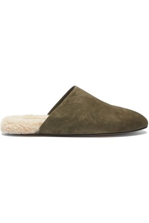 Inabo Slider Suede And Shearling Slippers