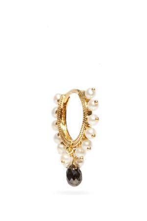 Maria Tash Coronet Eternity Diamond & 18kt Earring