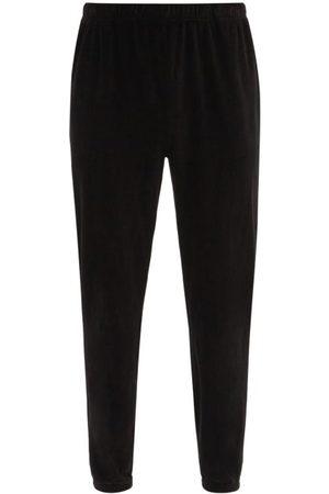 Les Tien Brushed-back Cotton Velour Track Pants