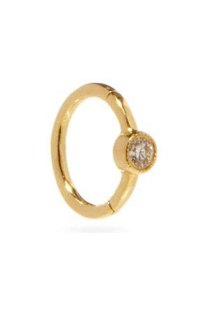 Maria Tash Diamond & 18kt Single Huggie Earring